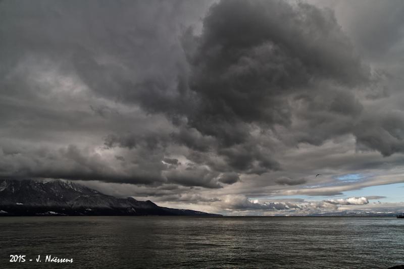 Paysage d'hiver sur le lac 20151110