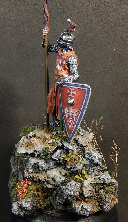 Chevalier italien, 13e siècle; EK Castings, 54 mm Dscn0913