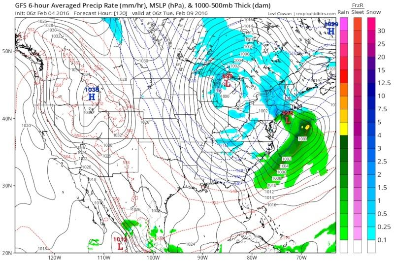 February 9th Possible Inverted Trough Gfs_ms12