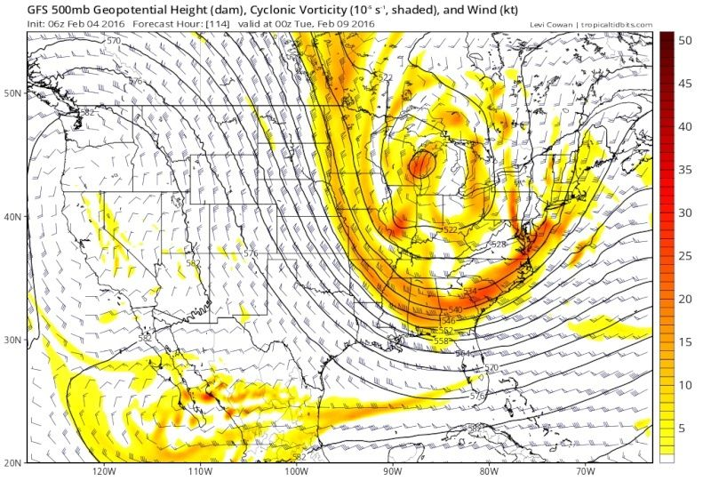 February 9th Possible Inverted Trough Gfs_z510
