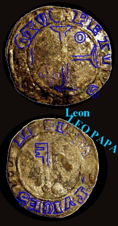 Billon  JEAN XXIII  Antipape de 1410 à 1415 Ccyrio10