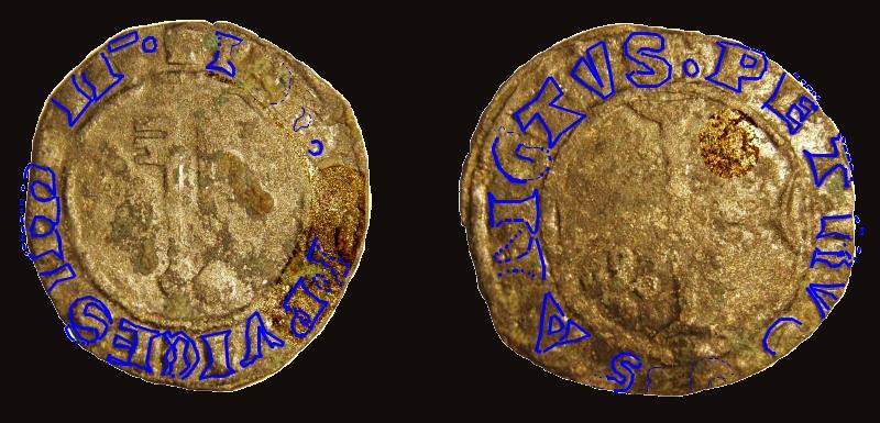 Billon  JEAN XXIII  Antipape de 1410 à 1415 Ccyrio11