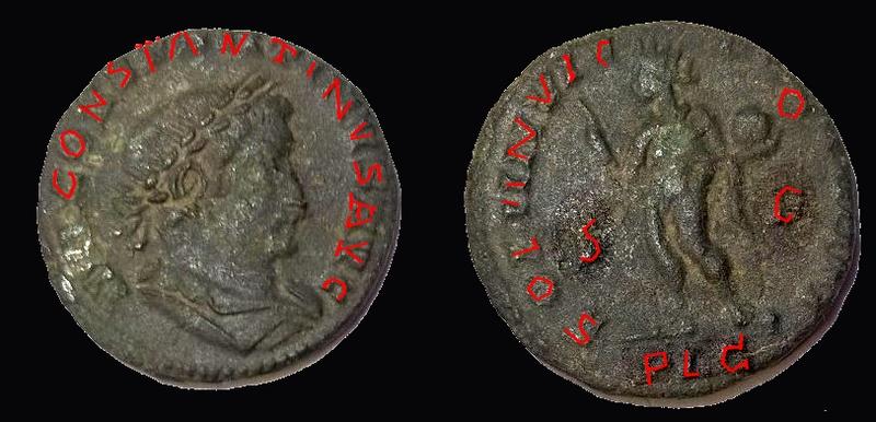 Folis Constantin 1er, antoninianus Tacite, folis Galère Maximien Quenti12