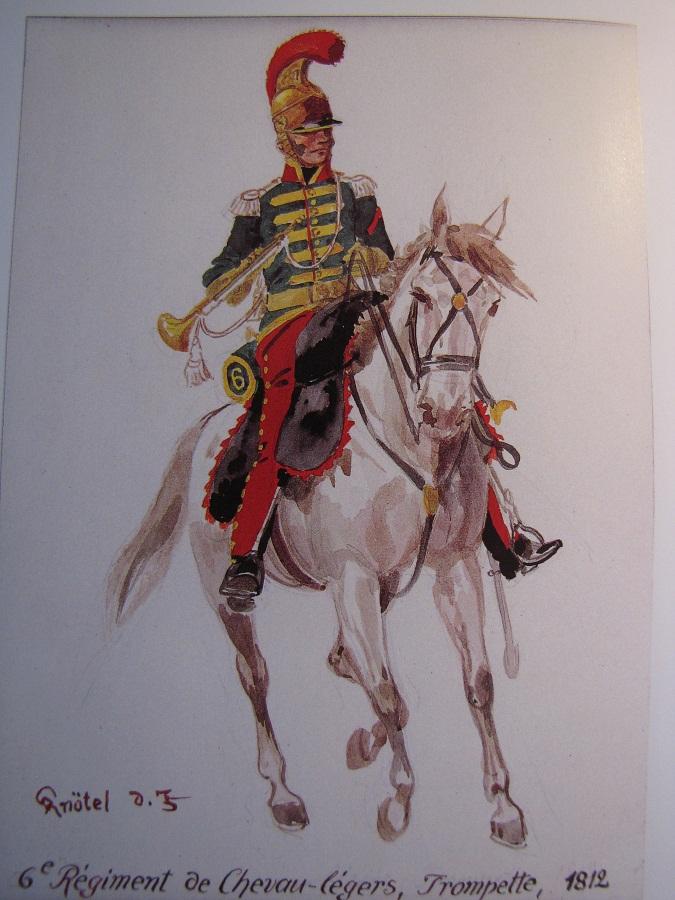 Trompette 6è rgt. Chevau-legers, 1814 Trompe10