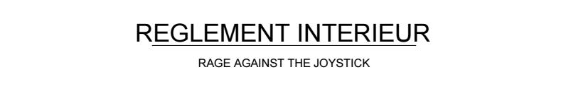 Règlement Intérieur de l'association 0110
