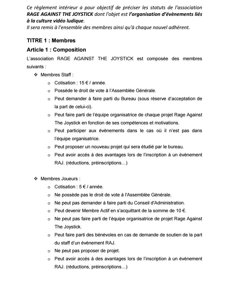 Règlement Intérieur de l'association 0210