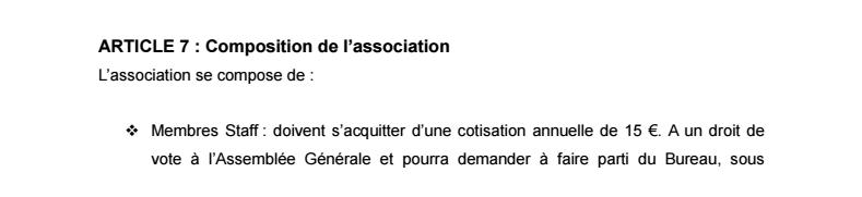 Statuts de l'Association 0211