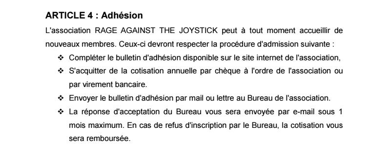 Règlement Intérieur de l'association 0410