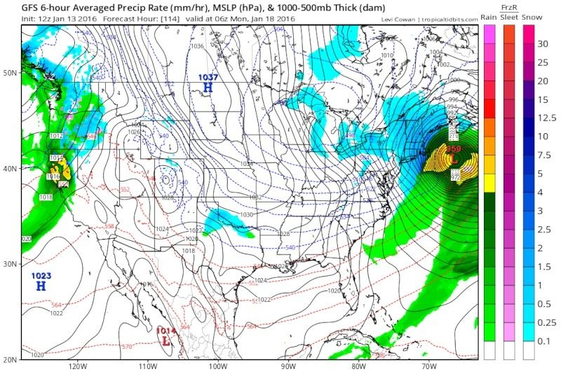 State of the Union: Winter Edition & MLK Day Possible Storm Gfs_ms14