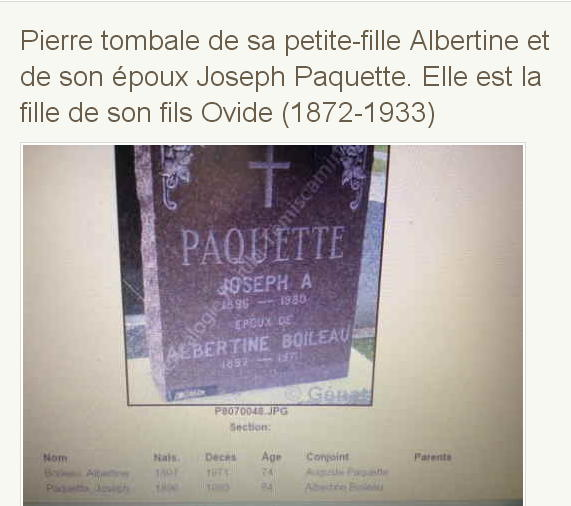 Joseph Paquet et Albertine Boileau  Pierre12