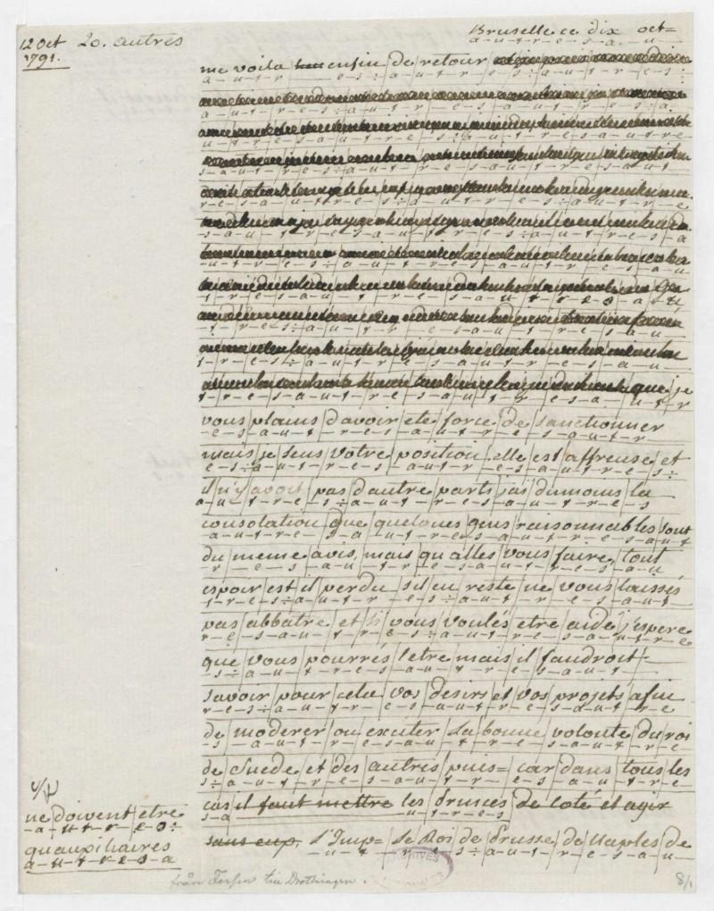 Les lettres de Fersen à Marie-Antoinette 10-12_10