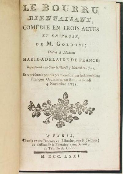 Carlo Goldoni et le mariage de Marie-Antoinette  10842410