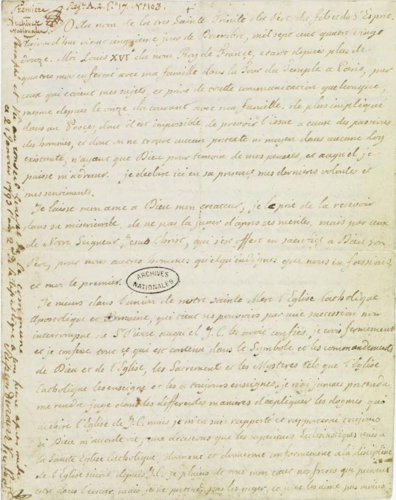 Le Testament de Louis XVI 110