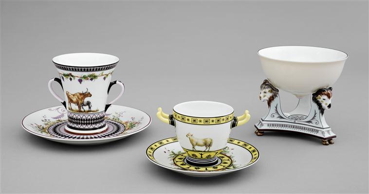 Service de Marie-Antoinette pour Rambouillet en porcelaine de Sèvres 15-61110