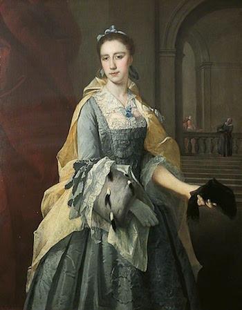 Galerie de portraits : Le manchon au XVIIIe siècle  1b0dc911