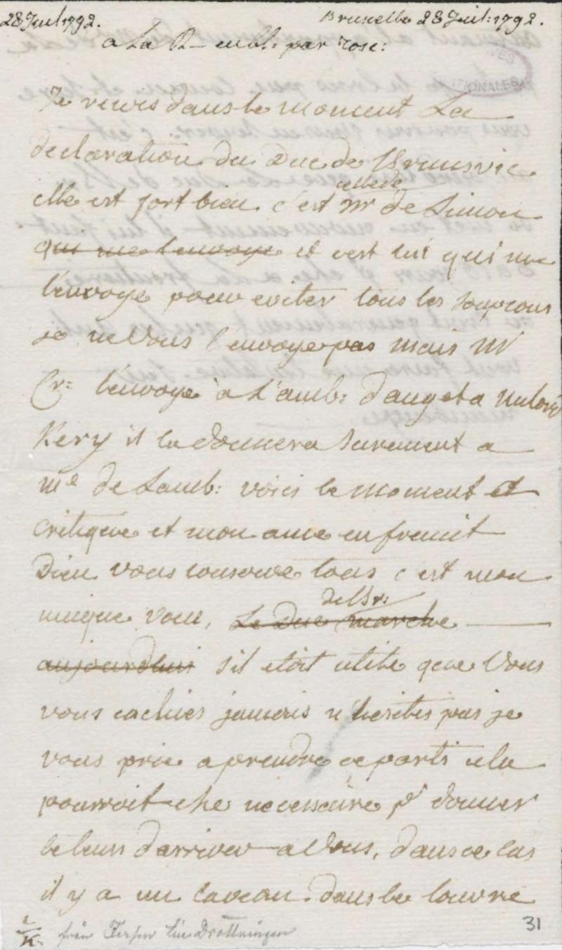 Les lettres de Fersen à Marie-Antoinette - Page 2 28_jui10