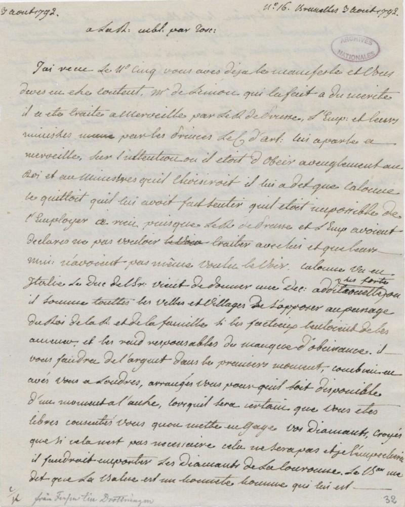 Les lettres de Fersen à Marie-Antoinette - Page 2 3_aout10