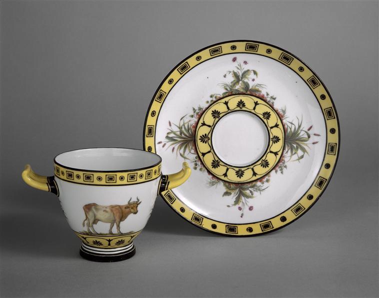 Service de Marie-Antoinette pour Rambouillet en porcelaine de Sèvres 92-00410