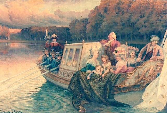 Le canot de promenade de Marie-Antoinette à Versailles Bateau15