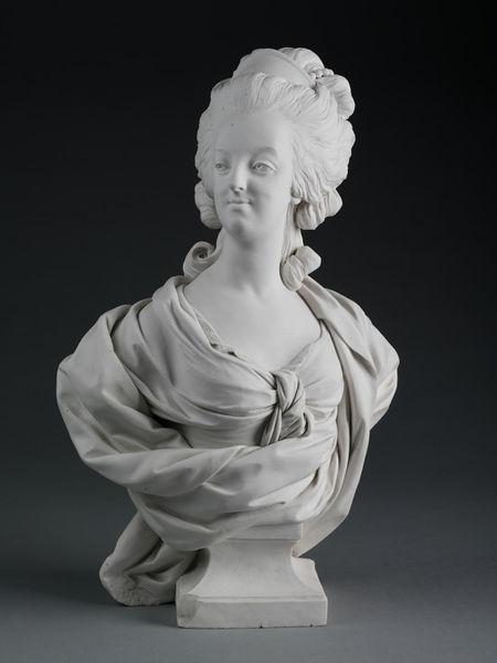 Marie Antoinette, par (et d'après) Louis-Simon Boizot Buste_16