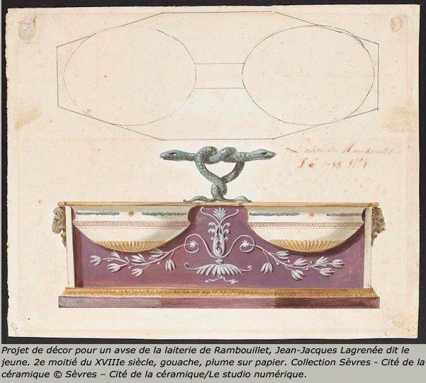 Service de Marie-Antoinette pour Rambouillet en porcelaine de Sèvres Captu106