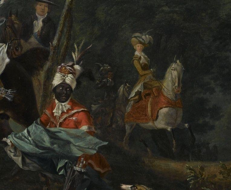 Louis-Auguste Brun, portraits de Marie-Antoinette en tenue de chasse Captu175
