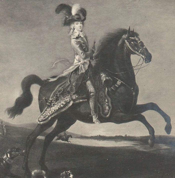 Louis-Auguste Brun, portraits de Marie-Antoinette en tenue de chasse Captu178