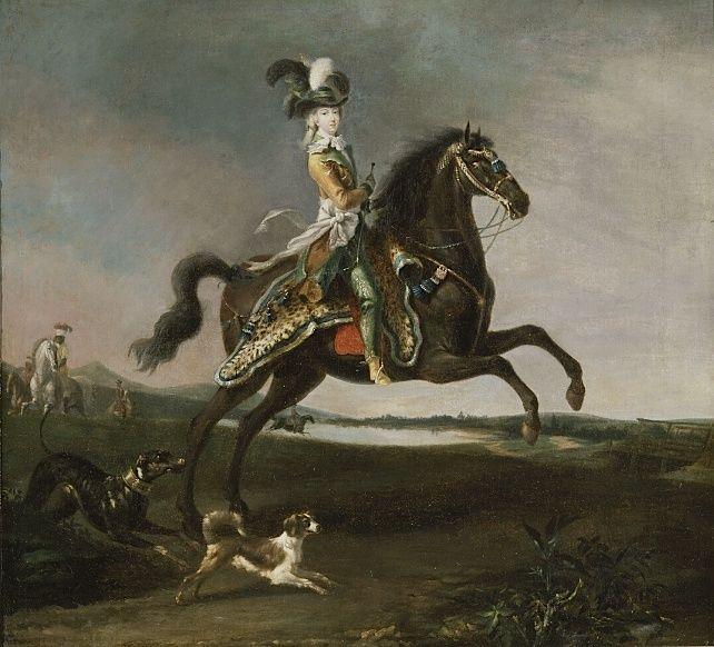 Louis-Auguste Brun, portraits de Marie-Antoinette en tenue de chasse Captu179