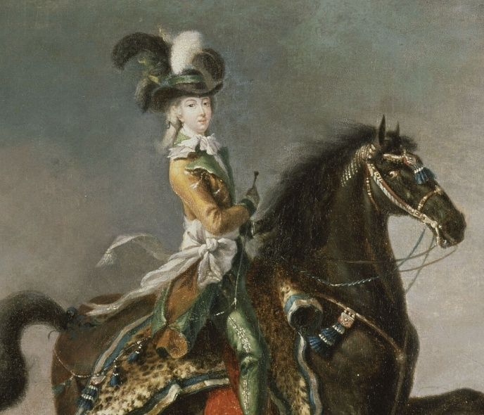 Louis-Auguste Brun, portraits de Marie-Antoinette en tenue de chasse Captu180
