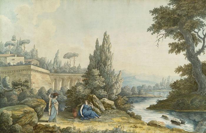 """Exposition """"Voyages en Italie"""" de Louis-François Cassas. Musée des Beaux-Arts de Tours Cassas10"""