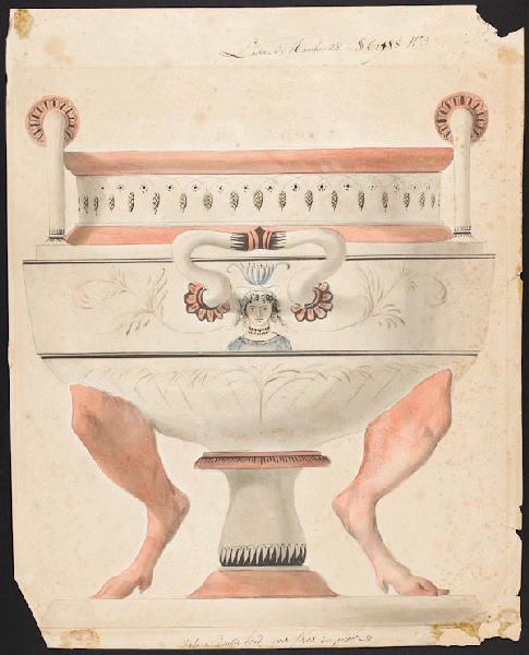 Service de Marie-Antoinette pour Rambouillet en porcelaine de Sèvres Dessin10