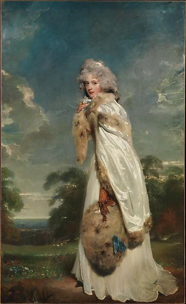 Galerie de portraits : Le manchon au XVIIIe siècle  Dp169211