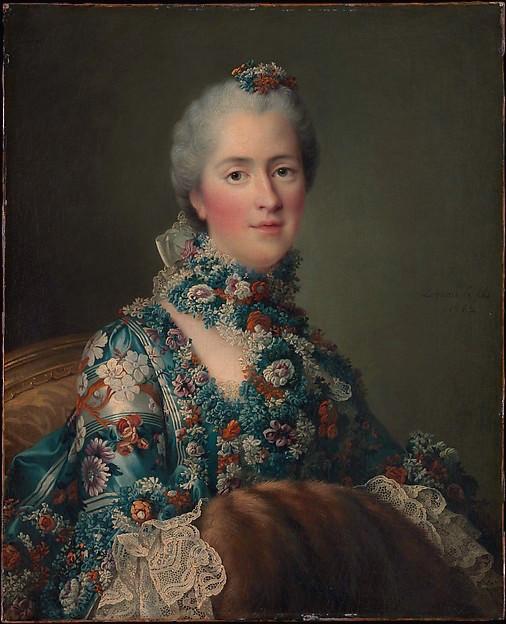 Galerie de portraits : Le manchon au XVIIIe siècle  Dp323310