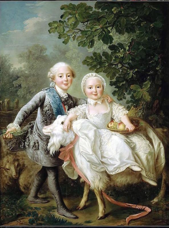 Portraits de Madame Royale et de Louis-Joseph par E. Vigée Le Brun (1784 et 1789) Drouai10