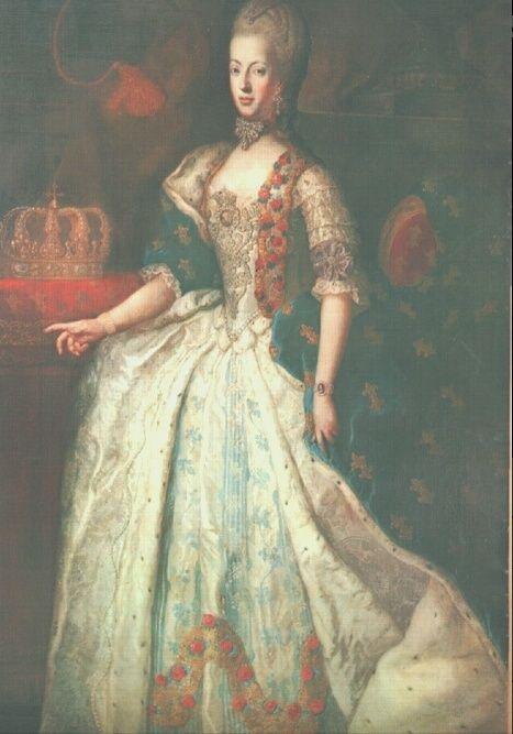 drouais - Grand portrait en pied de Marie-Antoinette, par Drouais Drouai14