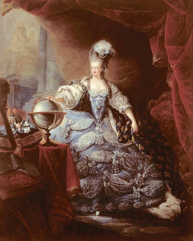 Portraits de Marie-Antoinette attribués aux Gautier Dagoty (ou d'après). Gautie10