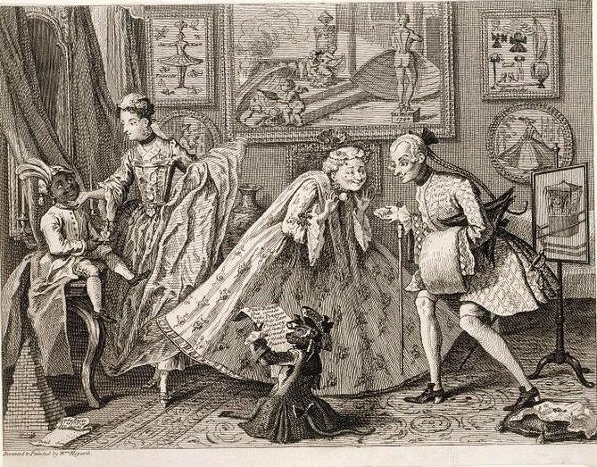 Galerie de portraits : Le manchon au XVIIIe siècle  Hogart10