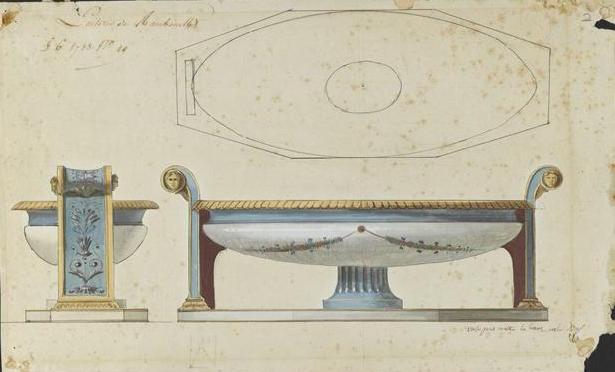 Service de Marie-Antoinette pour Rambouillet en porcelaine de Sèvres Jatte_10