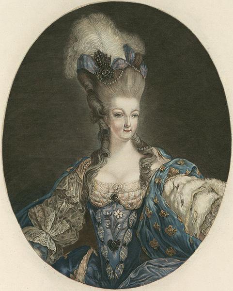 Gravures : Portraits de Marie Antoinette par Jean-François Janinet, d'après Dagoty Jean_f10