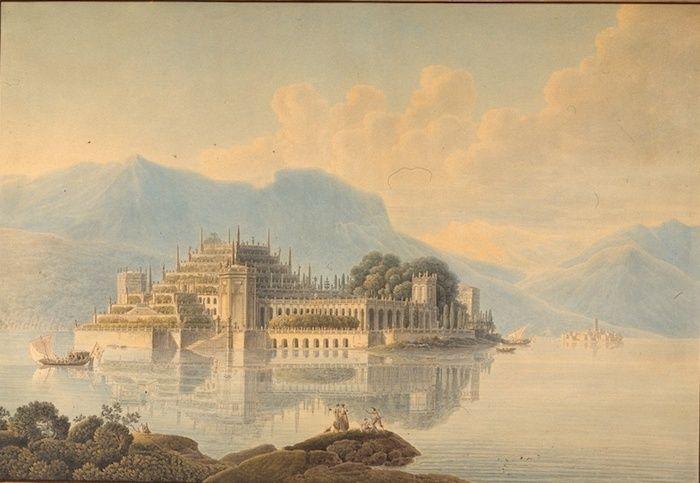 """Exposition """"Voyages en Italie"""" de Louis-François Cassas. Musée des Beaux-Arts de Tours Lac-ma11"""