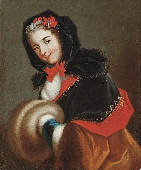 Galerie de portraits : Le manchon au XVIIIe siècle  Louise13