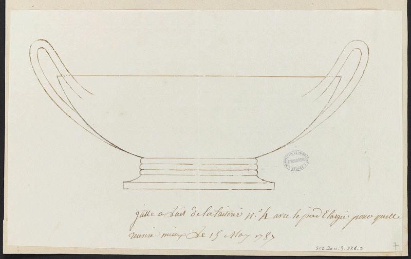 Service de Marie-Antoinette pour Rambouillet en porcelaine de Sèvres M5019011