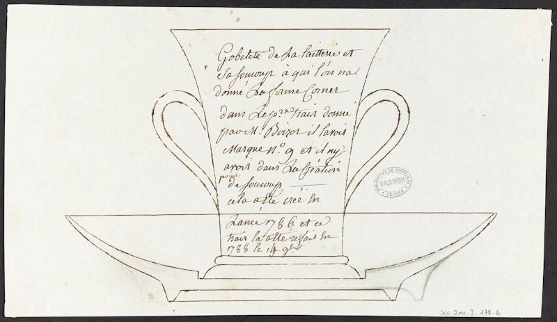 Service de Marie-Antoinette pour Rambouillet en porcelaine de Sèvres M5019012