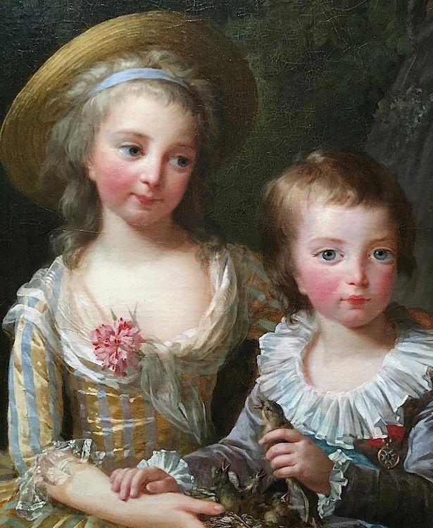 Portraits de Madame Royale et de Louis-Joseph par E. Vigée Le Brun (1784 et 1789) Madame15