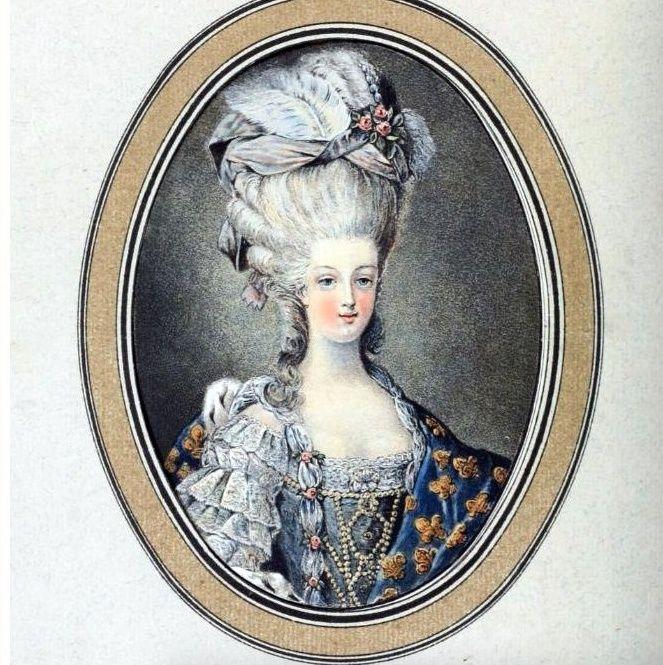 Gravures : Portraits de Marie Antoinette par Jean-François Janinet, d'après Dagoty Marie101