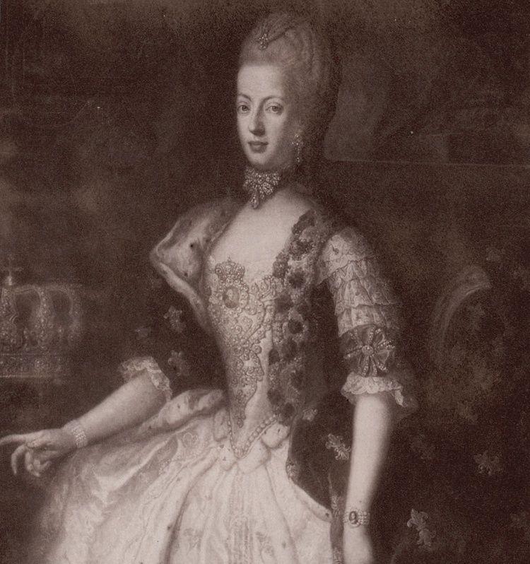 drouais - Grand portrait en pied de Marie-Antoinette, par Drouais Marie109