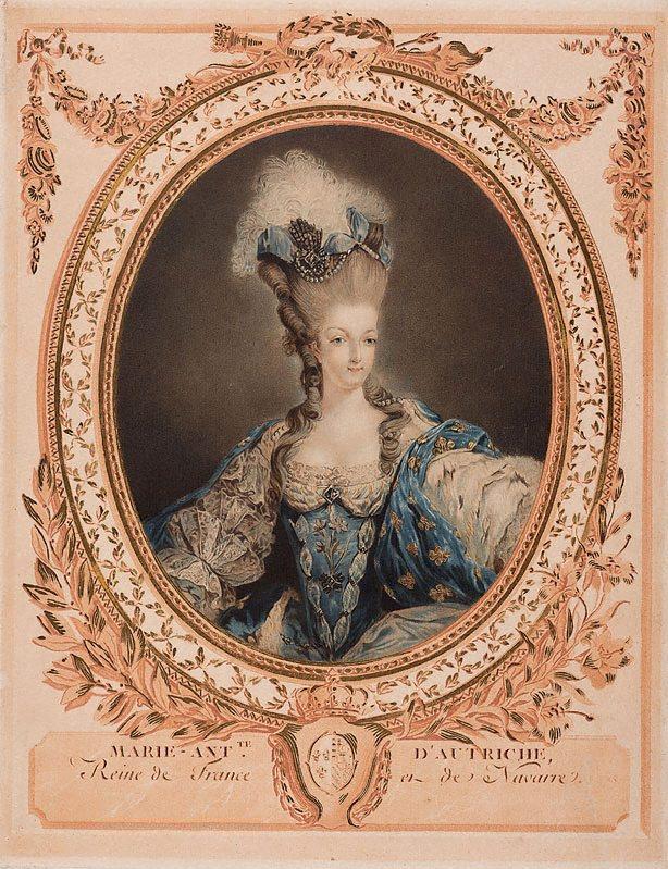 Gravures : Portraits de Marie Antoinette par Jean-François Janinet, d'après Dagoty Marie_92