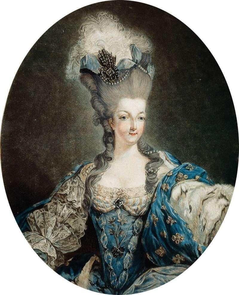 Gravures : Portraits de Marie Antoinette par Jean-François Janinet, d'après Dagoty Marie_93