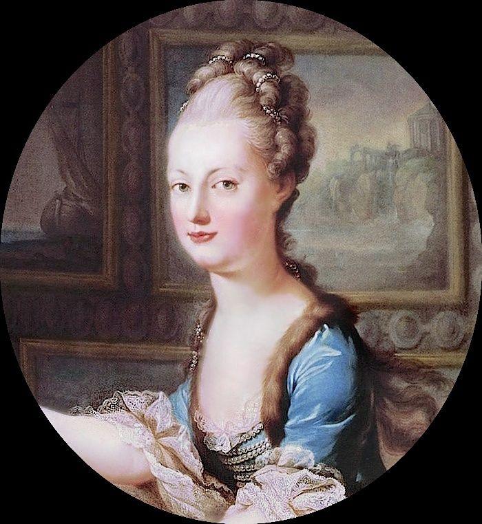 Portraits de Marie-Antoinette au clavecin, par Franz Xaver Wagenschön Mariea13