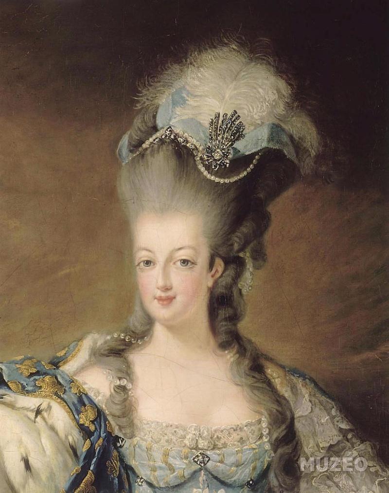 Portraits de Marie-Antoinette attribués aux Gautier Dagoty (ou d'après). Mariea16